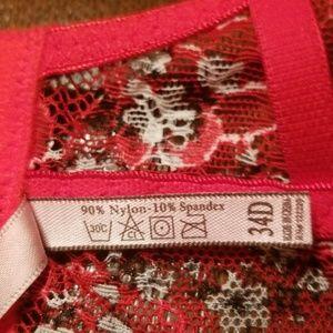 body frosting Intimates & Sleepwear - 🆕️Red flowery bra and panty set